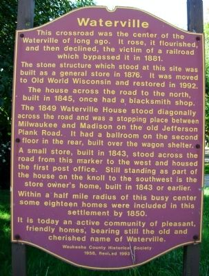 Waterville Marker image. Click for full size.
