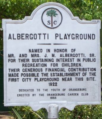 Albergotti Playground Marker image. Click for full size.