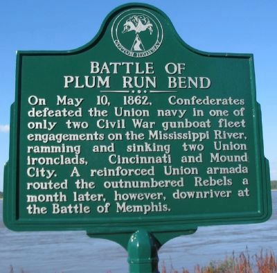 Battle of Plum Run Bend Marker image. Click for full size.