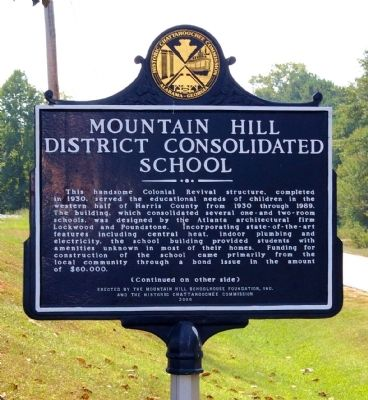 Mountain Hill District Consolidated School Marker image. Click for full size.