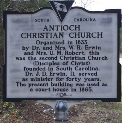 Antioch Christian Church Marker image. Click for full size.
