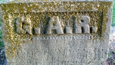 G.A.R.-W.R.C. Civil War Memorial Detail image. Click for full size.