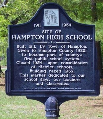 Site of Hampton High School Marker image. Click for full size.
