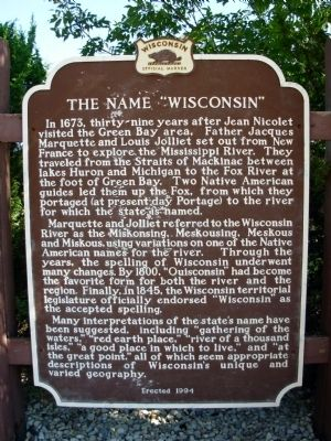 "The Name ""Wisconsin"" Marker image. Click for full size."