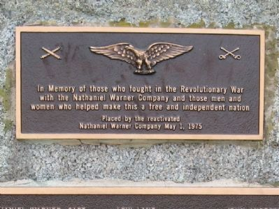 Nathaniel Warner Company Monument image. Click for full size.