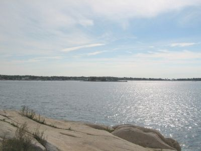 Ten Pound Island in Gloucester Harbor from Stage Fort image. Click for full size.