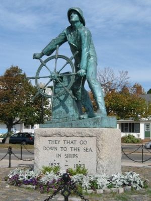 Man at the Wheel Statue image. Click for full size.