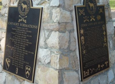 Fort Clark Historical Society Plaques: image. Click for full size.