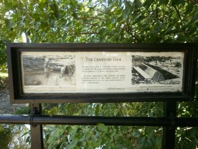 The Cranbury Dam Marker image. Click for full size.