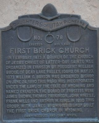 First Brick Church Marker image. Click for full size.