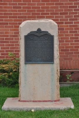 First Brick Church Monument and Marker image. Click for full size.