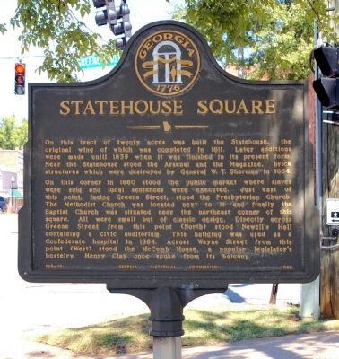 Statehouse Square Marker image. Click for full size.