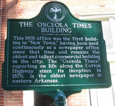 The Osceola Times Building Marker image. Click for full size.
