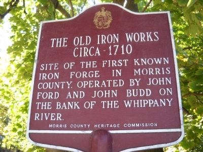 The Old Iron Works Marker image. Click for full size.