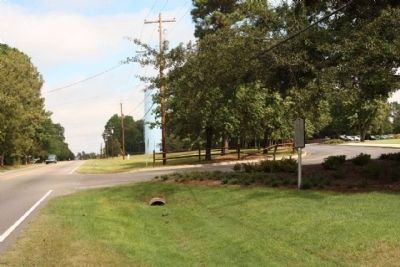 World War II POW Camp Marker, seen looking north along Laurens Street (State Road 19) image. Click for full size.
