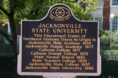 Jacksonville State University Marker image. Click for full size.
