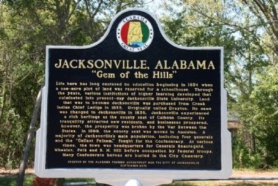 Jacksonville, Alabama Marker image. Click for full size.
