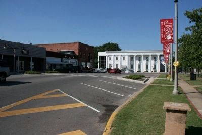 Downtown Jacksonville, Alabama west side of the town square image. Click for full size.
