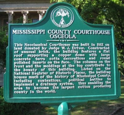 Mississippi County Courthouse Marker image. Click for full size.