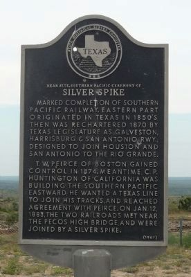 <small>Near Site, Southern Pacific Ceremony of </small>Silver Spike Marker image. Click for full size.
