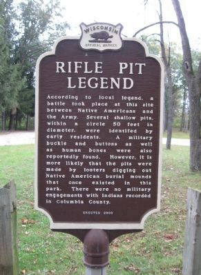 Rifle Pit Legend Marker image. Click for full size.