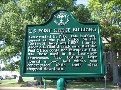 U.S. Post Office Building Marker image. Click for full size.