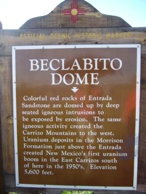 Beclabito Dome Marker image. Click for full size.