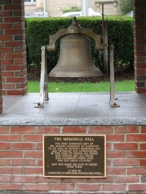 The Memorial Bell and Marker image. Click for full size.