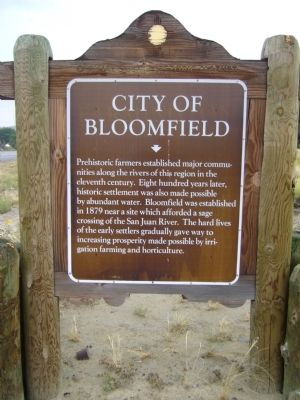 City of Bloomfield Marker image. Click for full size.