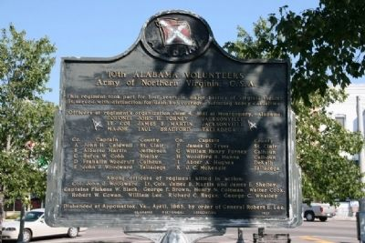 10th Alabama Volunteers Marker image. Click for full size.