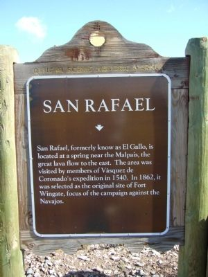 San Rafael Marker image. Click for full size.