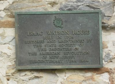 Isaac Watson House Marker image. Click for full size.