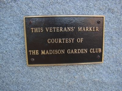 Madison County Veterans Marker image. Click for full size.