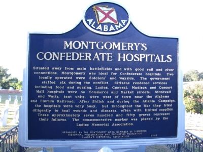 Montgomery's Confederate Hospitals Marker image. Click for full size.
