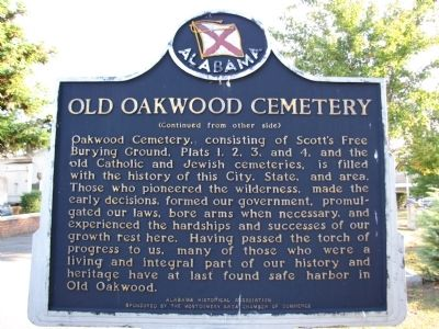 Old Oakwood Cemetery Marker image. Click for full size.