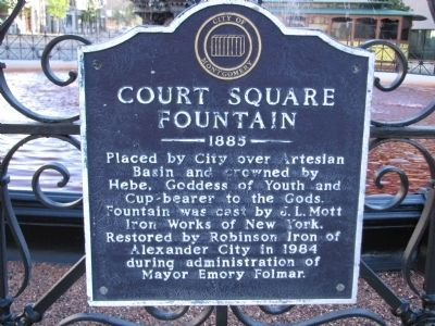 Court Square Fountain Marker image. Click for full size.