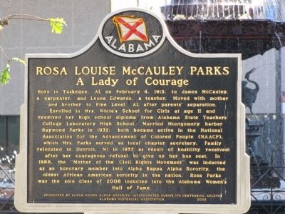 Rosa Louise McCauley Parks Marker image. Click for full size.
