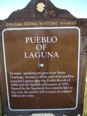 Pueblo of Laguna Marker image. Click for full size.