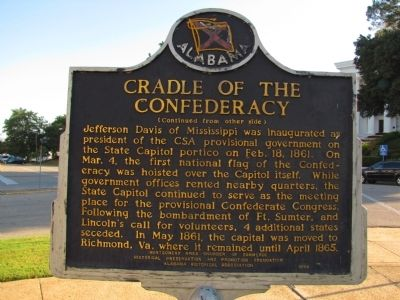 Cradle of the Confederacy Marker image. Click for full size.