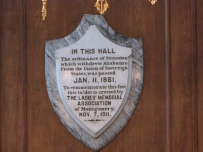 Ordinance of Secession plaque image. Click for full size.