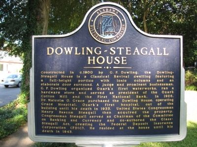 Dowling - Steagall House Marker image. Click for full size.
