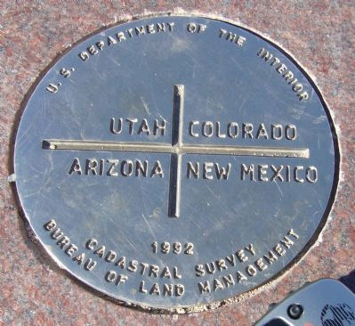 Four Corners Survey Marker image. Click for full size.