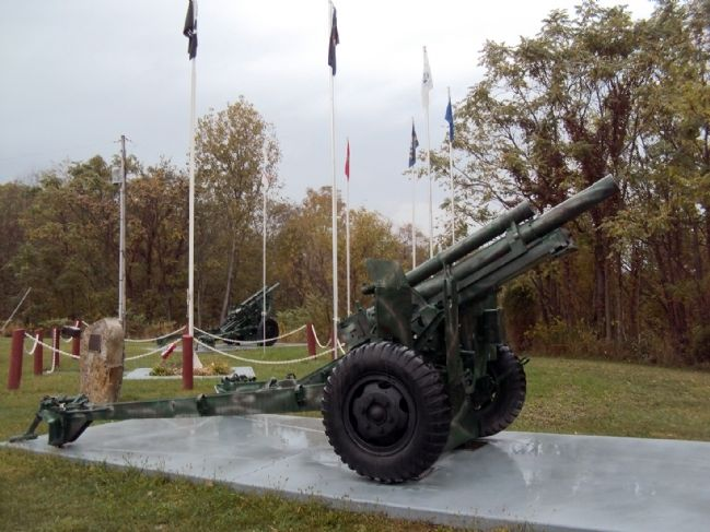 M101A1 105mm Towed Howitzers Marker image. Click for full size.