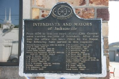 Intendants and Mayors of Jacksonville Marker image. Click for full size.