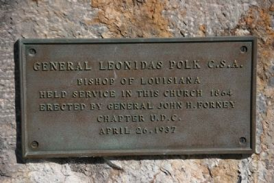 General Leonidas Polk C.S.A. Marker image. Click for full size.