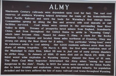 Almy Marker image. Click for full size.