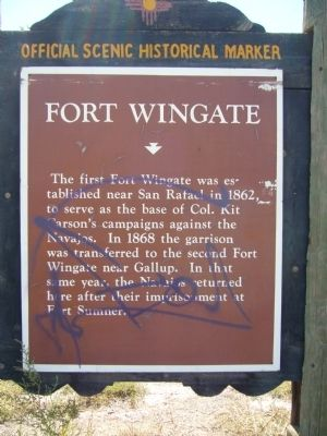 Fort Wingate Marker image. Click for full size.