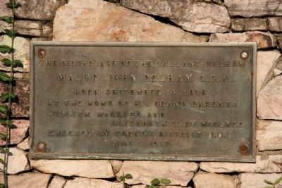 "The Birthplace of the ""Gallant Pelham"" Marker image. Click for full size."