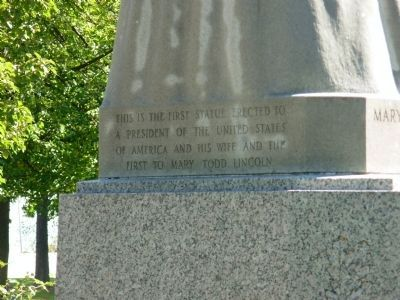 Inscription at base of Lincoln Statue image. Click for full size.