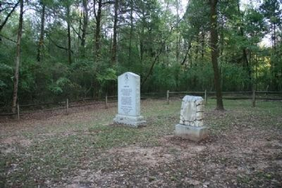 Lincoyer and The Tallasahatchie Battle Field Markers image. Click for full size.
